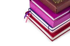 A stack of books and notebooks Royalty Free Stock Photos