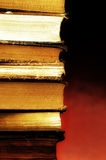Stack of books. Stack of old hardcover books royalty free stock image