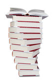 A stack of books with an open top. Stock Photo