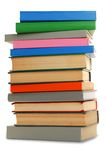 Stack of books over white. Royalty Free Stock Photos