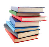 Stack of books over white Royalty Free Stock Photos