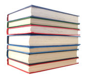 Stack of books over white Royalty Free Stock Images