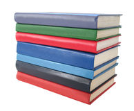 Stack of books over white Stock Images