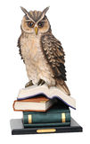 Stack of books and owl Royalty Free Stock Photography