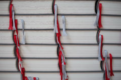 Stack of books with picking belts Stock Photography