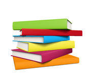 Stack of books. Stack of realistic colored books with empty covers. EPS10 Stock Images