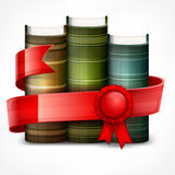 Stack of books with ribbon Royalty Free Stock Photo
