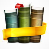 Stack of books with ribbon Stock Image