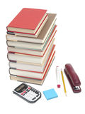 Stack of books and school supplies Royalty Free Stock Image