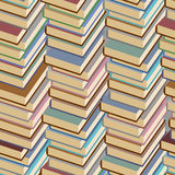 Stack of books seamless pattern. Vector background. Royalty Free Stock Photography