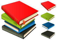 Stack Of Books - Set And Separated Stock Images