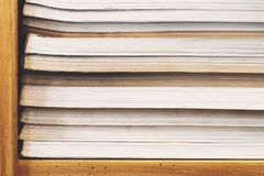 Stack of books on shelf. Stack of books on the shelf Royalty Free Stock Image