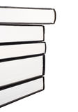 Stack of books, side view, isolated Royalty Free Stock Image
