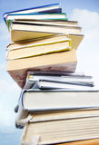 Stack of books and sky Stock Photography