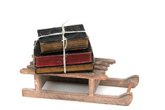 Stack of books on sledge Stock Images