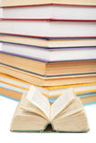 Stack of books and small book 2 Stock Image