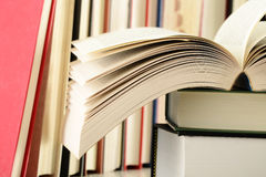Stack of books on the table Stock Photos