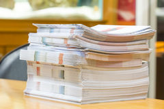 Stack of books on the table Stock Image