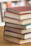Stack Of Books On Table Royalty Free Stock Photo