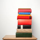 Stack of books on the table. Blank spines Stock Images