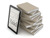 Stack of books and tablet computer Royalty Free Stock Photo