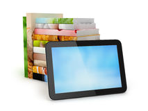 Stack of books and tablet computer Royalty Free Stock Photos