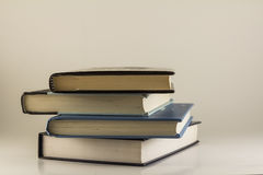 A stack of books/textbooks Stock Photos