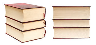 Stack of books. Stack of thick books isolated on white background Stock Photo