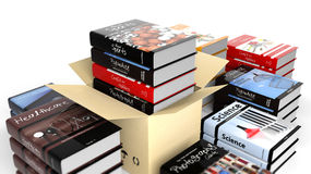 Stack of books with various subjects Stock Photography