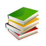 Stack of books vector. Vector illustration of blank books one over one in a stack stock illustration