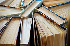 Stack of books. View from above Stock Image