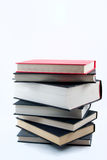 Stack of books on white Royalty Free Stock Photo