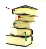 Stack of books on white. Stack of books  on white Royalty Free Stock Photography