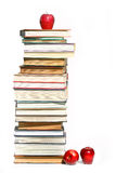 Stack of books on white Royalty Free Stock Image