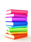 Stack of Books on white background Royalty Free Stock Photo