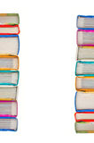 Stack of books on white background. Stack of Books in a tower on white background Royalty Free Stock Photography