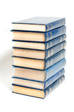 A stack of books on a white background Stock Photos