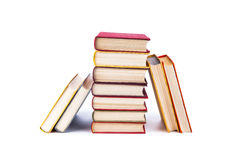 Stack of books. On a white background Royalty Free Stock Images