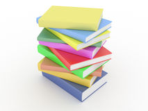 Stack of books on white Stock Images