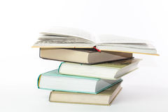 Stack of books. On a white background Royalty Free Stock Photography