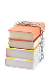 A stack of books on a white background. Stock Photos