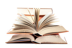 Stack of books on a white background. Stock Photography