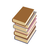 Stack  books on white background. Vector illustration Stock Images