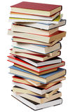 Stack of books on white Stock Photos