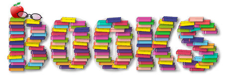 Stack of Books Word Stock Image