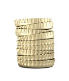 Stack of bottle caps , isolated Stock Images