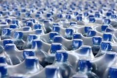 Stack bottled juice stock image