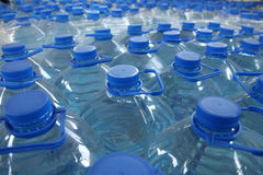 Stack bottled water Stock Image