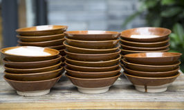 Stack of bowls background Stock Photography