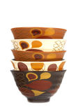 Stack of bowls in different colors 2 Stock Photography